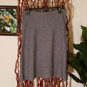 Ann Taylor Loft Grey Flannel A-Line Skirt